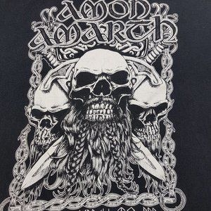 AMON AMARTH Bearded Skull Men's T-Shirt VINTAGE 2X